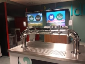 faytech Touch Monitors integrated in Drink Command Beer Tap Station